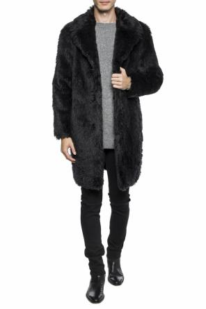Collared fur coat od Saint Laurent