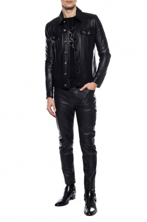 Leather jacket with pockets od Saint Laurent
