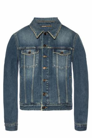 Denim jacket with a print od Saint Laurent