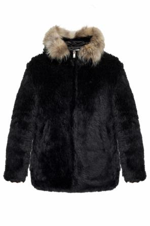 Hooded fur coat od Saint Laurent