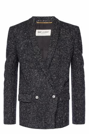 Double-breasted blazer with pockets od Saint Laurent