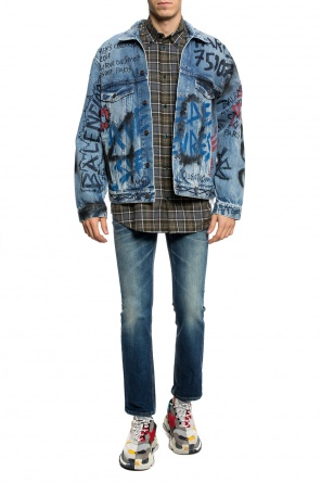 Printed denim jacket od Balenciaga