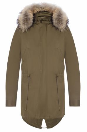 Parka with fur finish od Saint Laurent