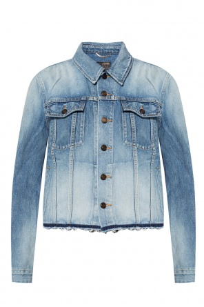 Denim jacket with rips od Saint Laurent