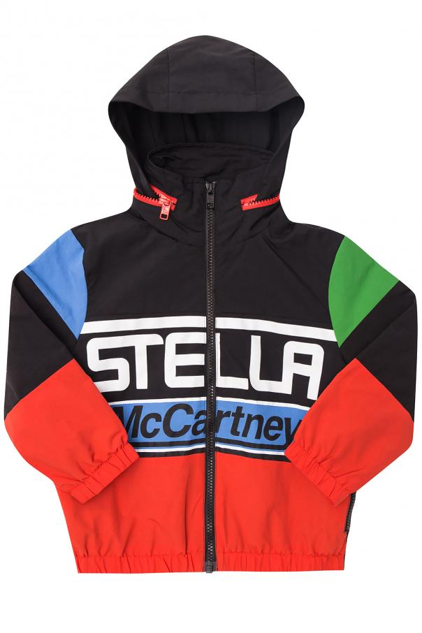 Hooded jacket with logo od Stella McCartney Kids