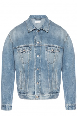 Branded denim jacket od Balenciaga