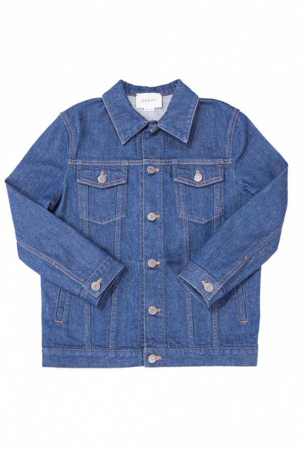 Gucci Kids Denim jacket with a patch