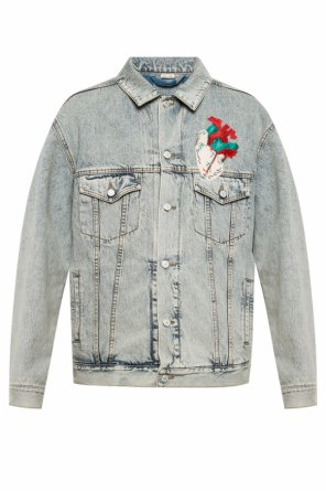 Patched denim jacket od Gucci