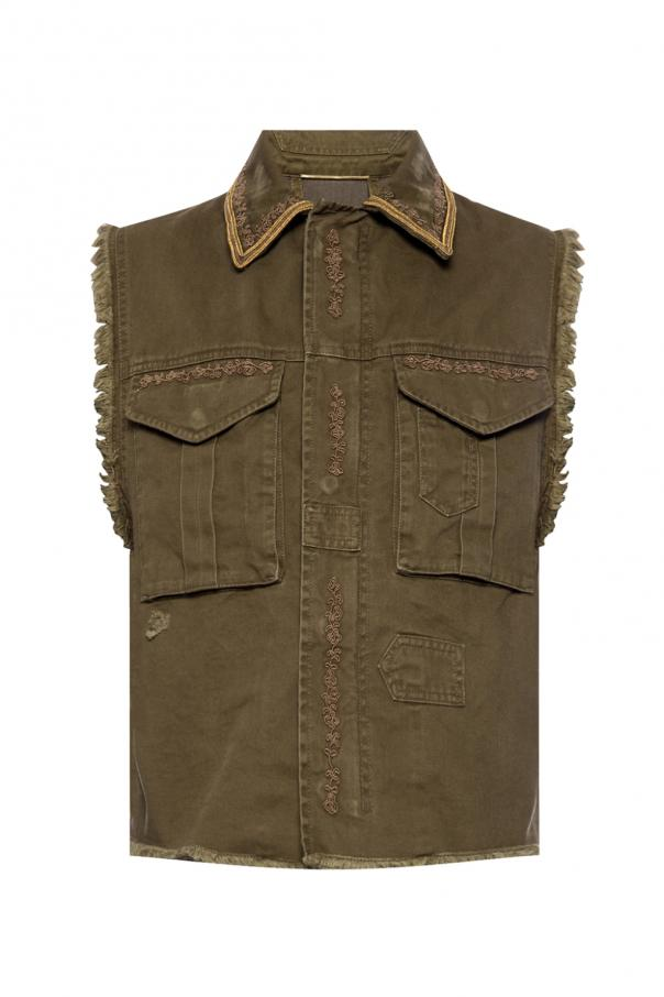 Saint Laurent Raw-trimmed vest