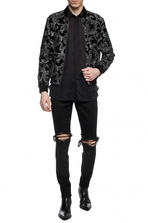Embroidered bomber sweatshirt od Saint Laurent