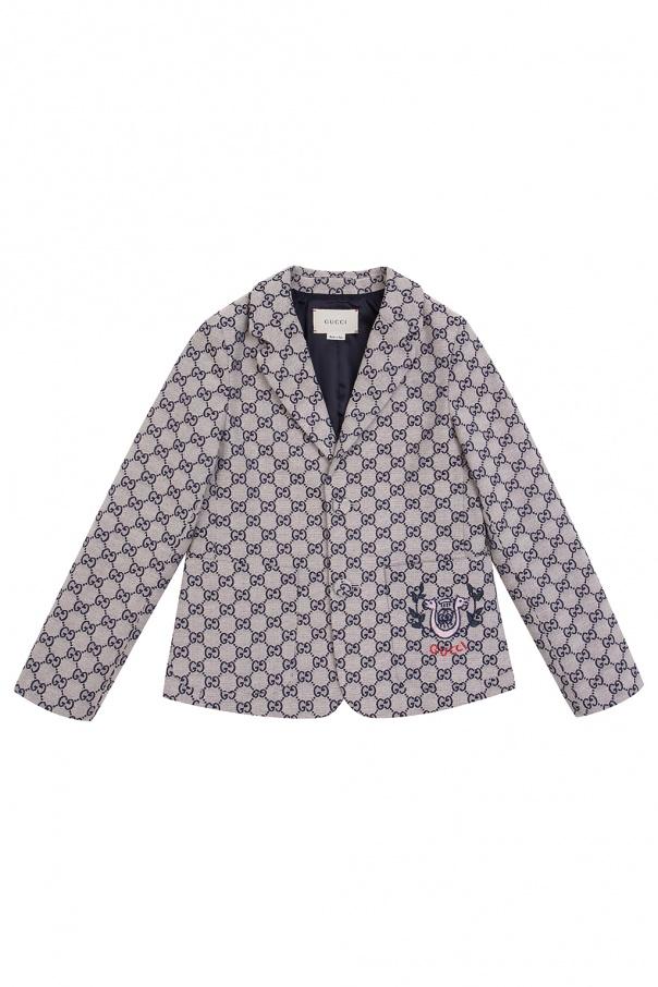 Gucci Kids Patterned blazer with logo