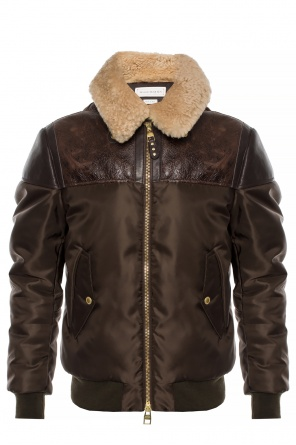 Jacket with a fur collar od Alexander McQueen