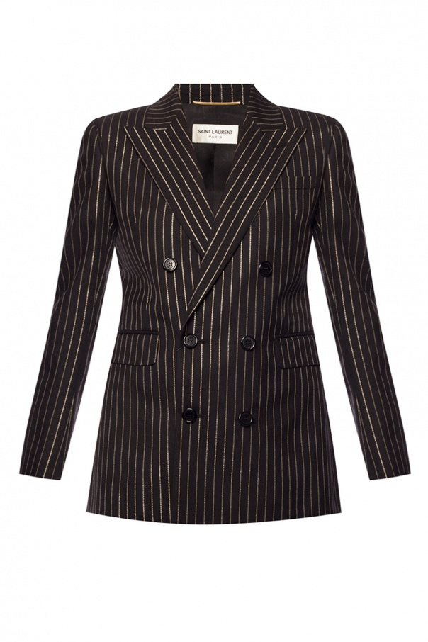 Striped double-breasted blazer od Saint Laurent