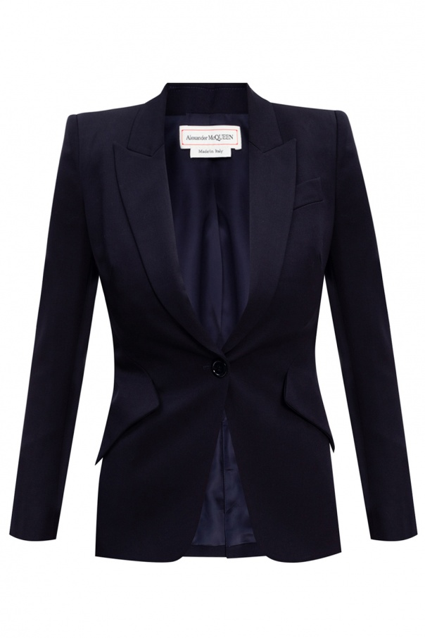 Alexander McQueen Blazer with notch lapels