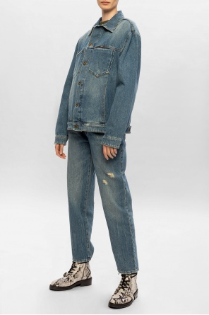Branded denim jacket od McQ Alexander McQueen