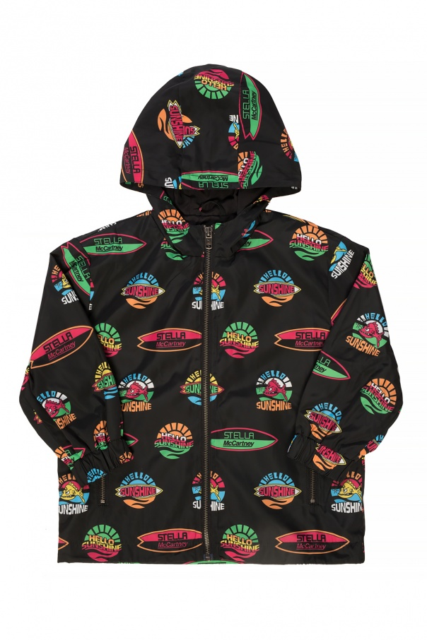 Stella McCartney Kids Printed rain jacket