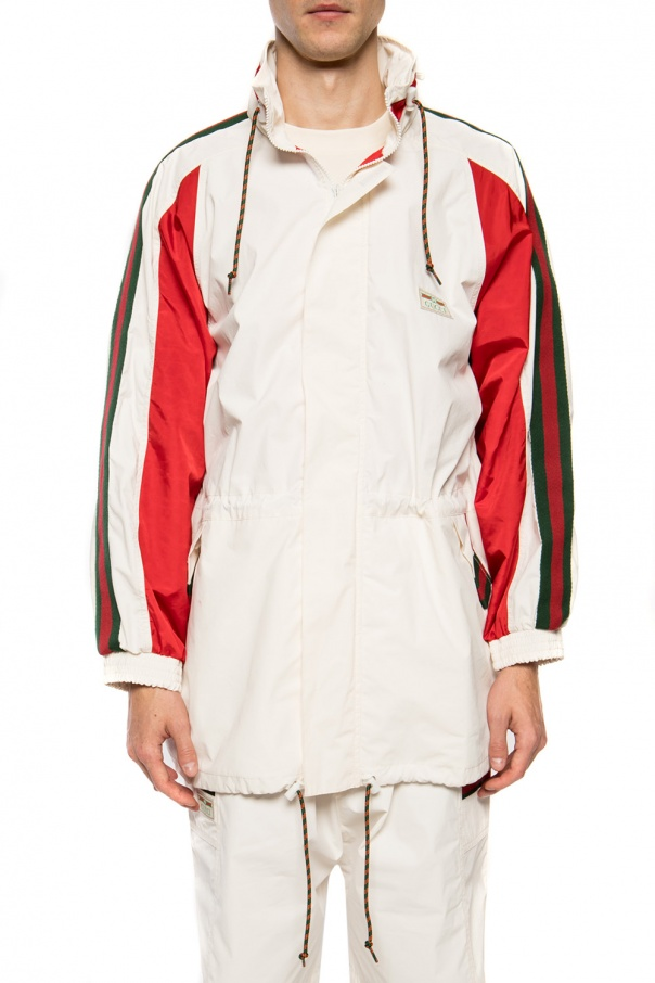 Rain jacket with 'web' stripes od Gucci