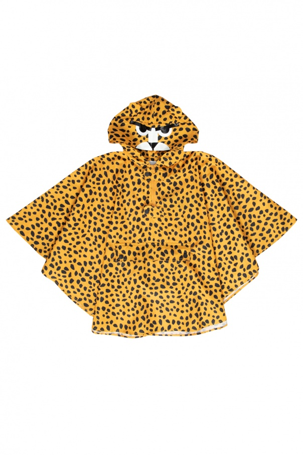 Stella McCartney Kids Leopard-printed poncho