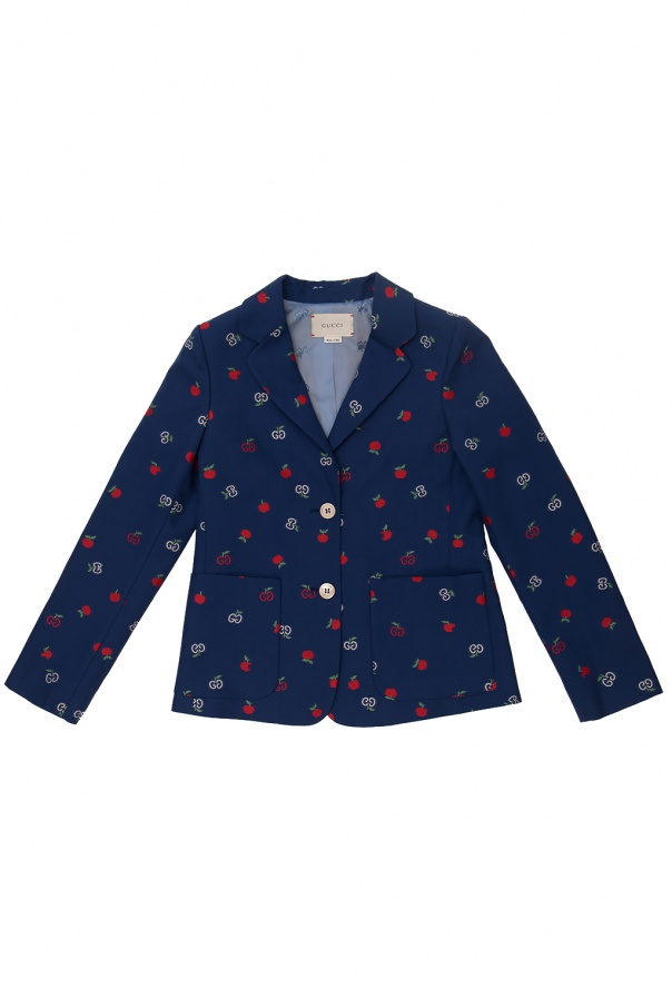 Gucci Kids Patterned blazer with logo