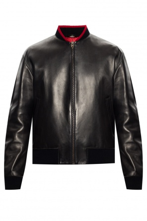 Leather bomber jacket od Gucci