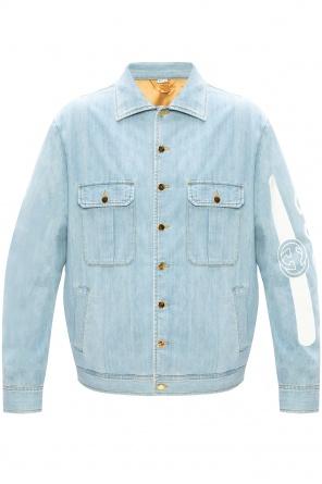 Branded denim jacket od Gucci
