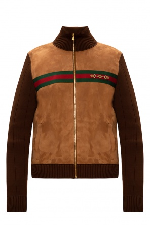 Branded bomber jacket od Gucci