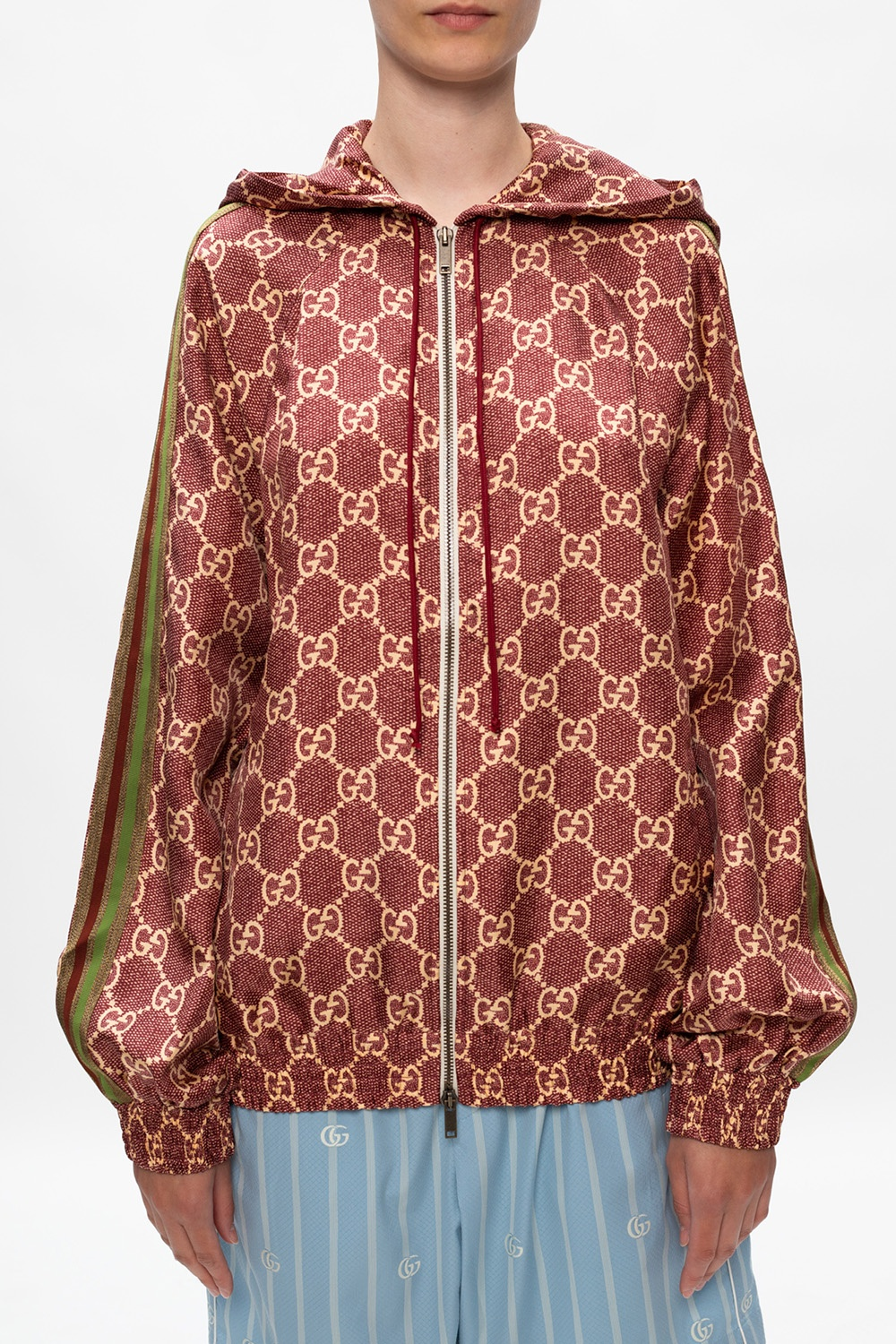 Gucci Silk jacket with logo
