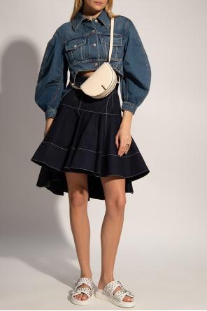 Asymmetrical denim jacket od Alexander McQueen