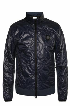 Patched quilted jacket od Stone Island