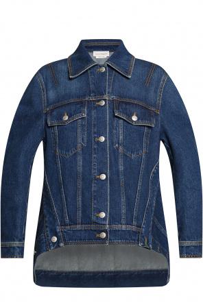 Oversize denim jacket od Alexander McQueen