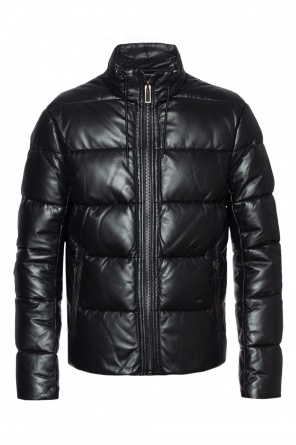 Leather quilted jacket od Emporio Armani