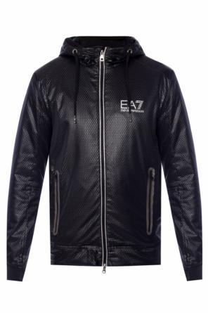 Hooded jacket with logo od EA7 Emporio Armani