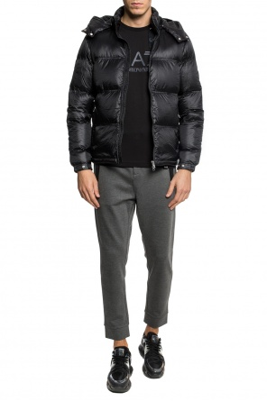 Hooded quilted jacket od EA7 Emporio Armani