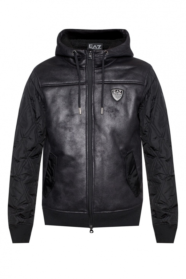 22b5fd4b2f5 Logo-patched padded jacket EA7 Emporio Armani - Vitkac shop online