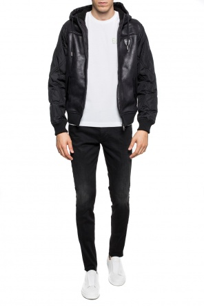 Logo-patched padded jacket od EA7 Emporio Armani