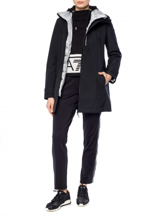 Double-layered jacket with logo od EA7 Emporio Armani