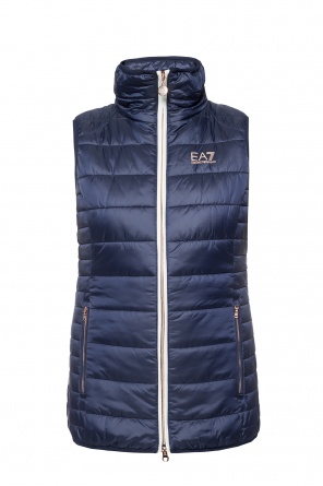 Quilted vest with band collar od EA7 Emporio Armani