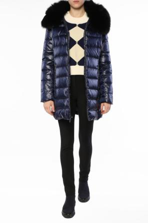 Fur collar quilted jacket od Michael Kors
