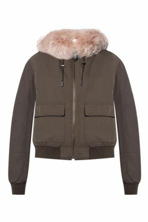 Hooded reversible jacket od Yves Salomon