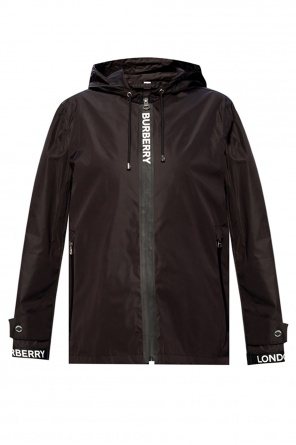 Jacket with logo od Burberry