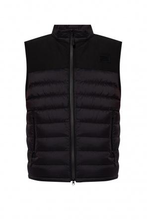 Down vest with logo od Burberry