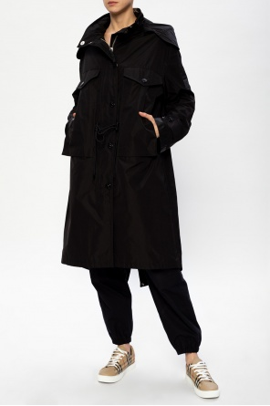 Coat with logo od Burberry