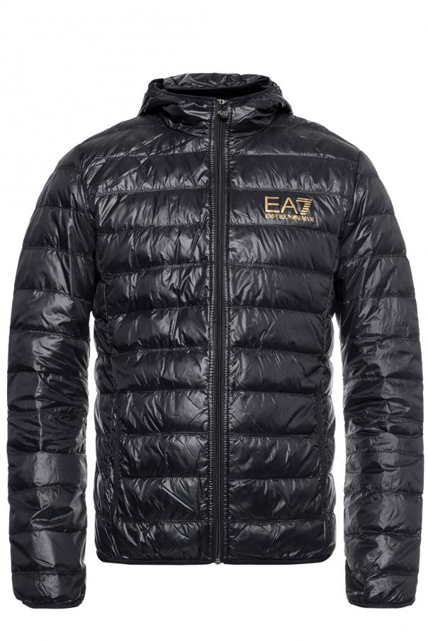 EA7 Emporio Armani Hooded quilted down jacket
