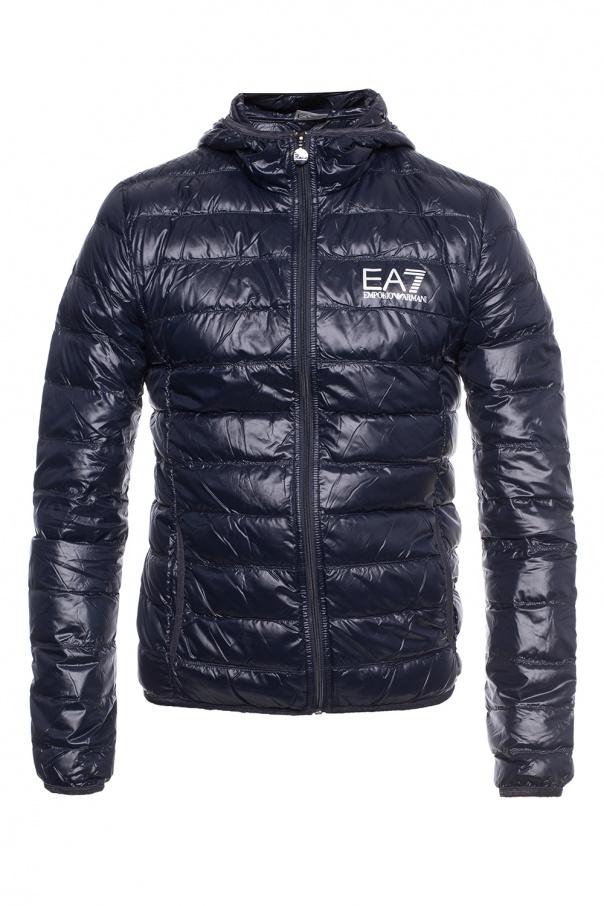 EA7 Emporio Armani Hooded down jacket