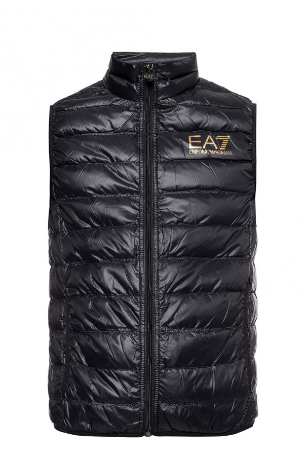 Emporio Armani Quilted vest with logo