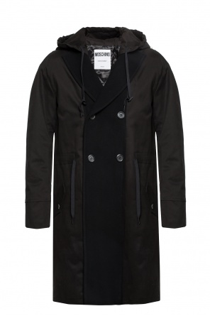 Double-breasted coat with open flaps od Moschino