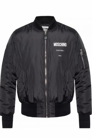 Insulated 'bomber' jacket with a printed logo od Moschino