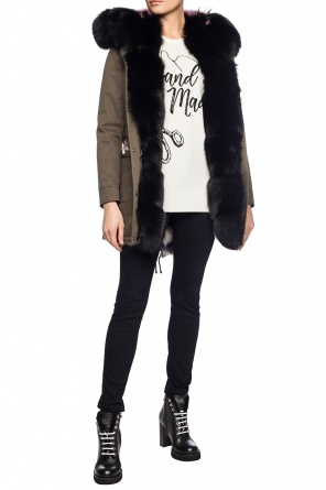 Fur trim jacket od Philipp Plein