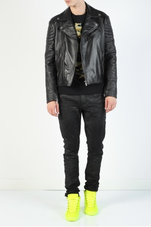 Leather biker jacket od Versace