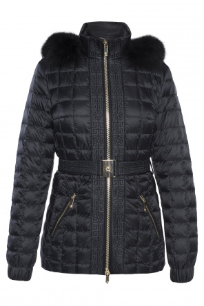 Quilted down jacket od Versace
